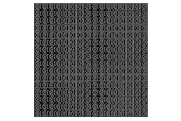 Grundplatte unterbaubar 32 x 32 Noppen (dunkelgrau)