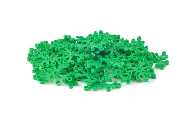 50 Stück Blattelement 6 x 5 brick plant leaves Farbe green