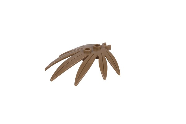 40 Stück Blattelemente Plant Leaves 6 x 5 Swordleaf with Open O Clip Thick Farbe dark tan