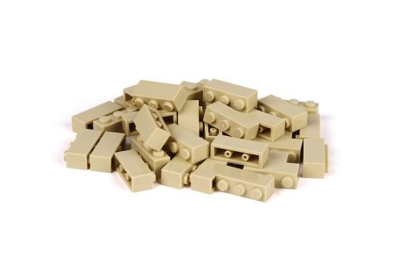 40 Stück Klemmbausteine 1 x 3 brick Farbe tan