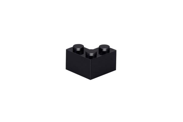 50 Stück Ecksteine 2 x 2 corner brick Farbe schwarz