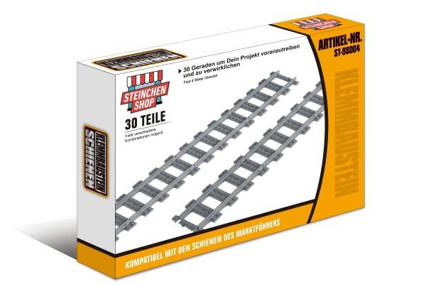 Eisenbahn Schiene 30 Geraden im Karton