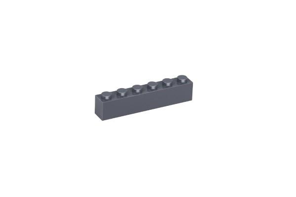 20 Stück Klemmbausteine 1 x 6 brick Farbe dark bluish gray