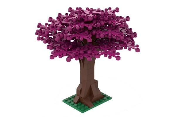 Großer Baum magenta