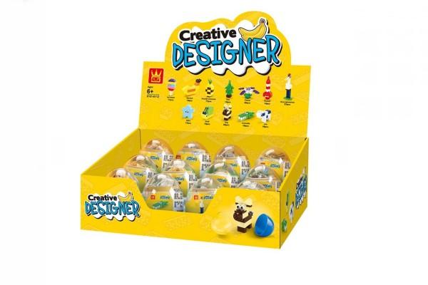 Verkaufsblister mit Mini Sets im Ei