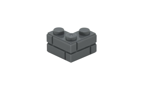 20 Stück Mauersteine 2 x 2 corner brick modified with Masonry Profile Farbe dark bluish gray
