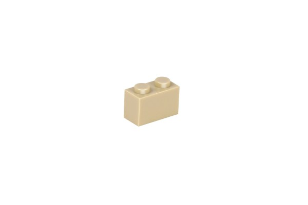 50 Stück Klemmbausteine 1 x 2 brick Farbe tan