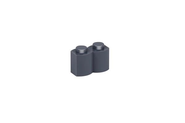 100 Stück Palisadensteine 1 x 2 palisade brick modified Farbe dark bluish gray