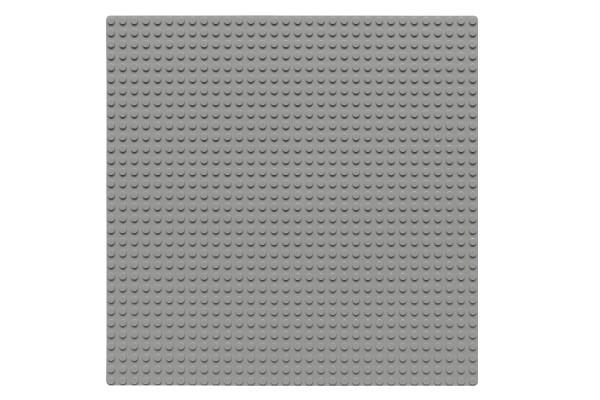 Grundplatte 32 x 32 Noppen (hellgrau)