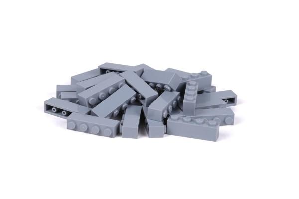 30 Stück Klemmbausteine 1 x 4 brick Farbe light bluish gray