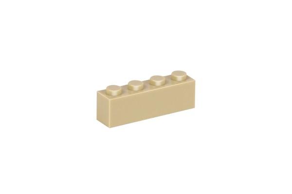 30 Stück Klemmbausteine 1 x 4 brick Farbe tan