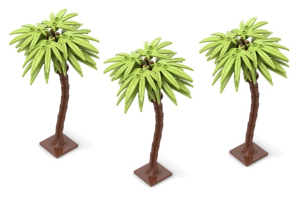 3 Palmen in hellgrün (lime)