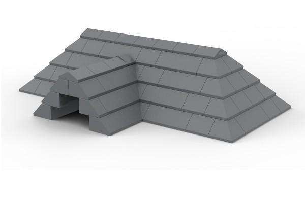 Dachkonstruktion in dark bluish gray - diverse Slopes