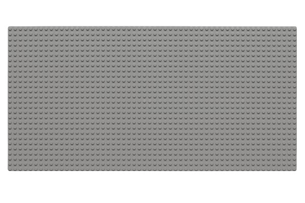 Grundplatte 28 x 56 Noppen (hellgrau)