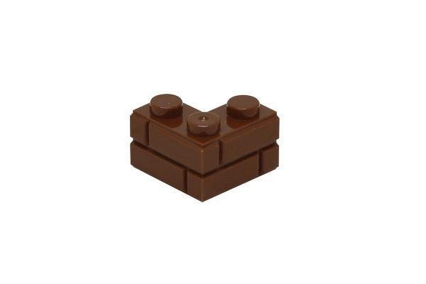 20 Stück Mauersteine 2 x 2 corner brick modified with Masonry Profile Farbe braun