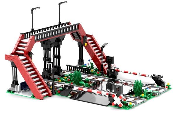 Städtischer Bahnübergang mit Brücke by NeoSephiroth