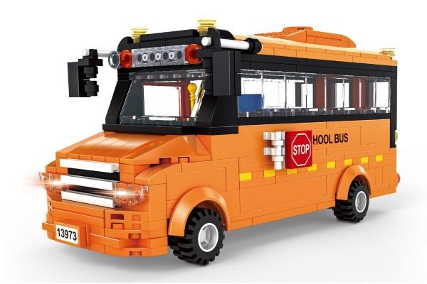 Oranger Schulbus