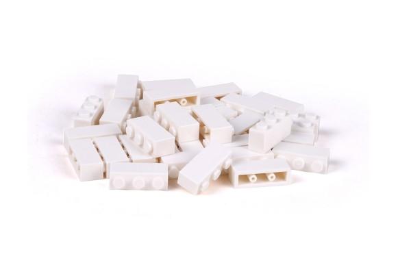 40 Stück Klemmbausteine 1 x 3 brick Farbe weiß