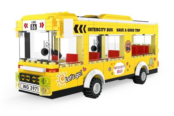 Gelber Intercity Bus Lienienbus