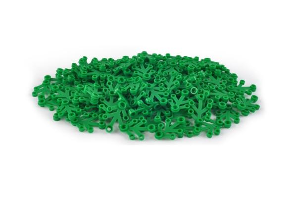 100 Stück Blattelement 4 x 3 brick plant leaves Farbe green