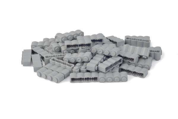 50 Stück Palisadensteine 1 x 4 log brick modified Farbe light bluish gray