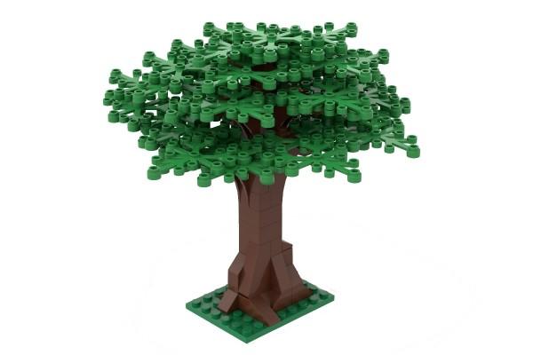Großer Baum hellgrün