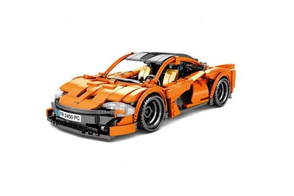 Oranger Sportwagen Pullback