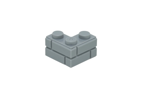 20 Stück Mauersteine 2 x 2 corner brick modified with Masonry Profile Farbe light bluish gray