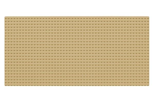 Grundplatte 24 x 48 Noppen (sand)