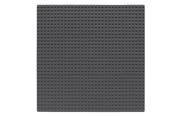 Grundplatte 32 x 32 Noppen (dunkelgrau)