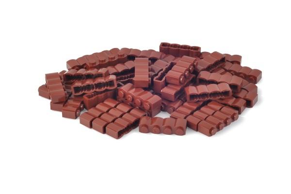 50 Stück Palisadensteine 1 x 4 log brick modified Farbe reddish brown
