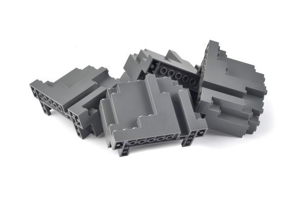 5 Stück Felsen Rock Panel 4 x 10 x 6 Rectangular dark bluish gray