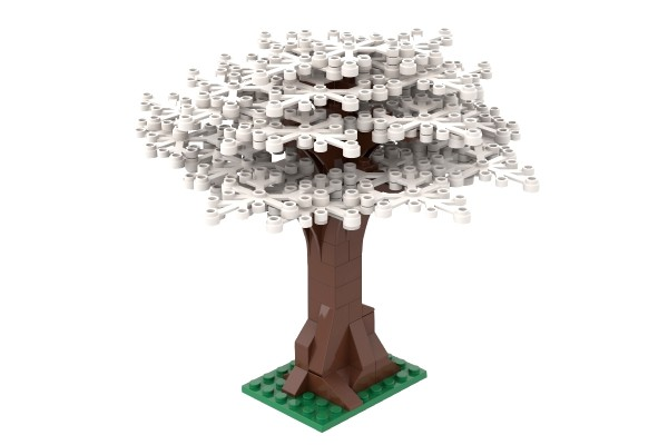 Großer Baum weiß