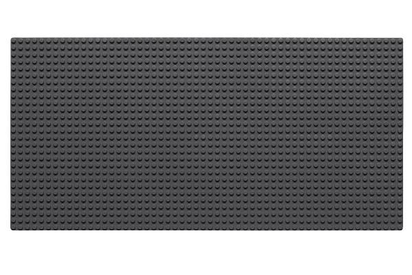 Grundplatte 28 x 56 Noppen (dunkelgrau)