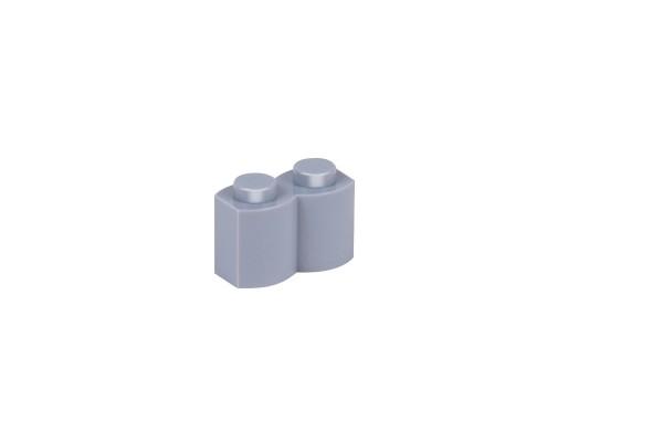 100 Stück Palisadensteine 1 x 2 palisade brick modified Farbe light bluish gray