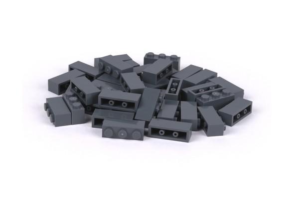 40 Stück Klemmbausteine 1 x 3 brick Farbe dark bluish gray