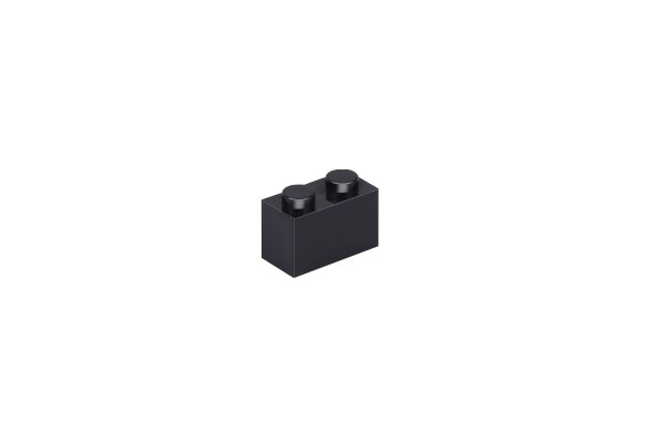 50 Stück Klemmbausteine 1 x 2 brick Farbe schwarz