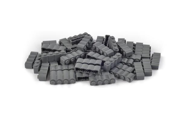 50 Stück Palisadensteine 1 x 4 log brick modified Farbe dark bluish gray
