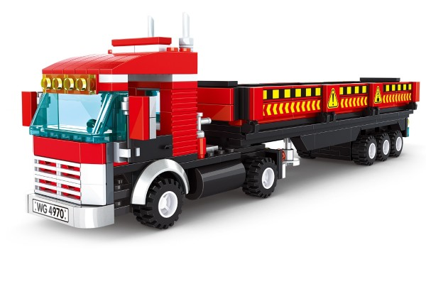 Roter Schwerlast-Transporter