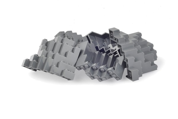 5 Stück Felsen rock panel 8 x 8 x 6 Medium Symmetric dark bluish gray