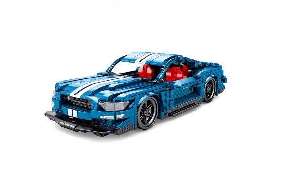 Blauer Sportwagen Pullback
