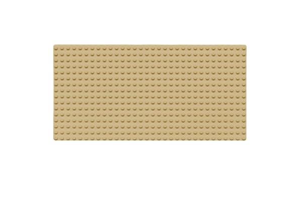 Grundplatte 16 x 32 Noppen (sand)