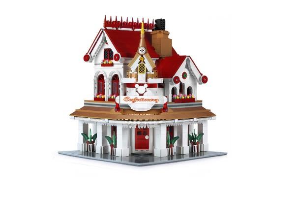 Modular Gebäude Eck Restaurant 2527 Klemmbausteine