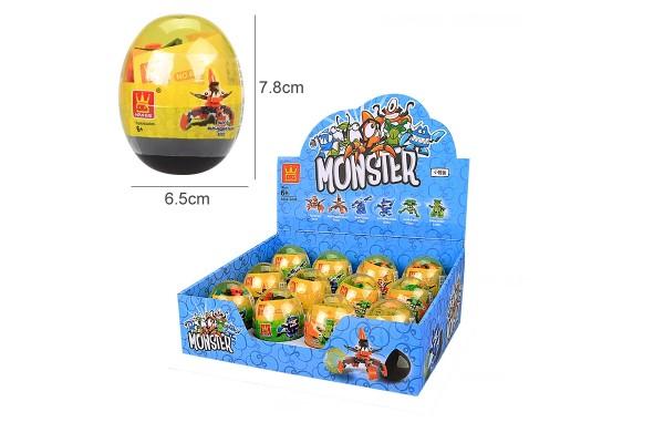 Verkaufsblister mit Mini Monster im Ei