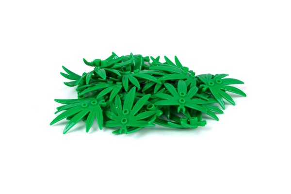 40 Stück Blattelemente Plant Leaves 6 x 5 Swordleaf with Open O Clip Thick Farbe grün