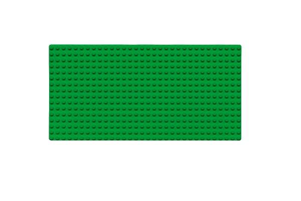 Grundplatte 16 x 32 Noppen (grün)