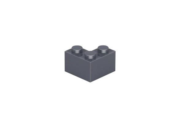 50 Stück Ecksteine 2 x 2 corner brick Farbe dark bluish gray