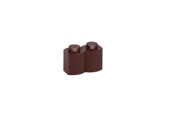100 Stück Palisadensteine 1 x 2 palisade brick modified Farbe reddish brown