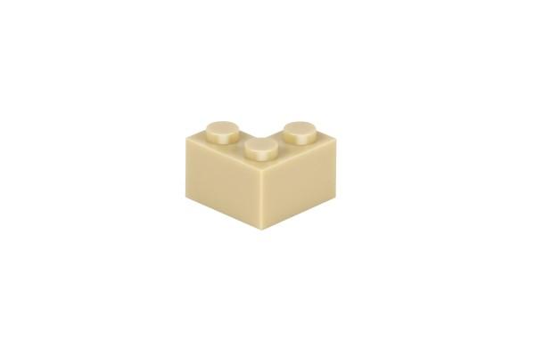 50 Stück Ecksteine 2 x 2 corner brick Farbe tan