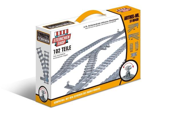 Schienenkreis XL - Oval Innerer Schienenkreis groß inkl. Abstellgleis